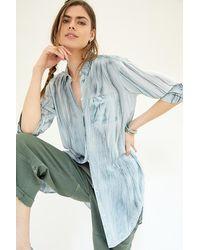 Pilcro Noemie Tunic Buttondown - Blue