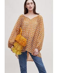 Anthropologie - Fringed Straw Tote Bag - Lyst