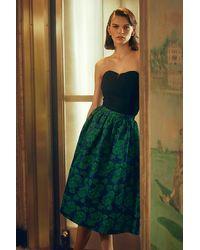 Sunday In Brooklyn Jacquard Midi Skirt - Blue