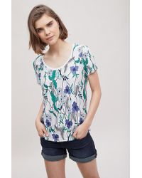 Anthropologie - Magda Floral-embroidered Tee - Lyst