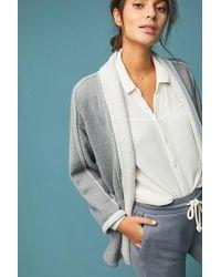 Saturday/sunday Cardigan en tissu éponge surpiqué - Gris