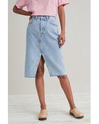 Levi's Decon Split-front Pencil Skirt - Blue
