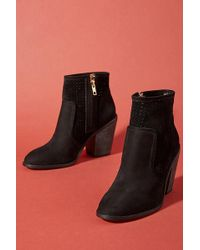 Anthropologie - Perforated Heeled Booties - Lyst