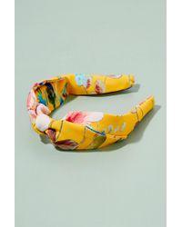 Anthropologie Emma Floral Headband - Yellow