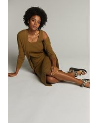 Anthropologie Colleen Knitted Co-ord Set - Brown