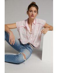 Pilcro Short-sleeve Shirt - Pink