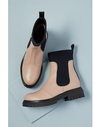 Anthropologie Georgina Leather Ankle Boots - Pink