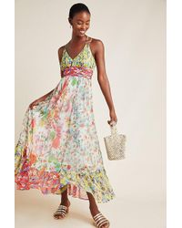 Anthropologie Malibu Floral Maxi Dress - Multicolour