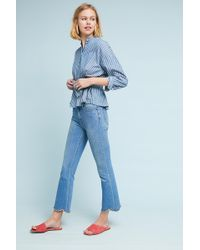 M.i.h Jeans - Marty Ultra High-rise Cropped Flare Jeans - Lyst