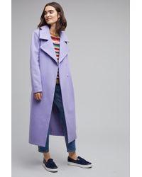 Just Female Gosha Belted Wrap Coat, Lavender - Purple