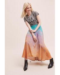 Bl-nk Jupe en biais tie-dye \u00a0 - Multicolore