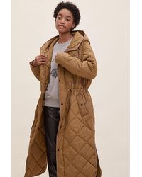 Second Female Prudence Quilted Coat - Brown