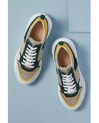 Anthropologie Snake-print Oversized Trainers - Blue