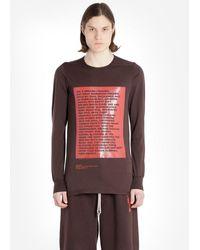 Rick Owens Drkshdw T Shirts - Brown