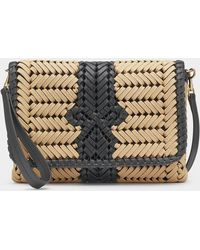 Anya Hindmarch The Neeson Woven Leather-trimmed Cross-body Bag - Multicolour