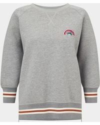 Anya Hindmarch - Diamante Rainbow Sweatshirt - Lyst