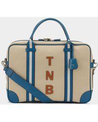 Anya Hindmarch Bespoke Walton Briefcase - Blue