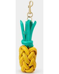 Anya Hindmarch Woven Pineapple Charm - Yellow