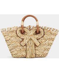 Anya Hindmarch Small Bow Basket - Natural
