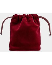 Anya Hindmarch Velvet Drawstring Pouch - Red