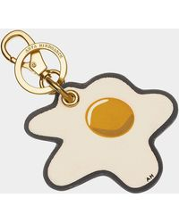 Anya Hindmarch Egg Key Ring - Metallic