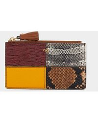 Anya Hindmarch Patchwork Zipped Card Case - Brown
