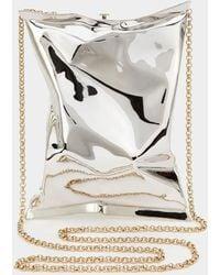 Anya Hindmarch - Silver Crisp Packet Clutch - Lyst