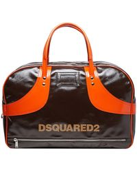 DSquared² Vintage Sports Duffle Bag - Brown