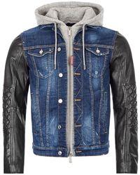 DSquared² Rip Off Dan Denim Jacket - Blue