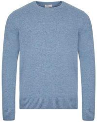 COLORFUL STANDARD Jumper Classic Merino Wool Crew - Blue