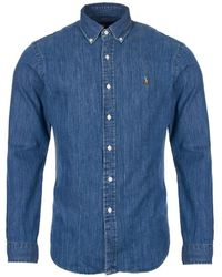 Ralph Lauren Shirt Chambray - Blue