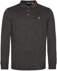 Ralph Lauren Custom Slim Long Sleeve Polo - Grey