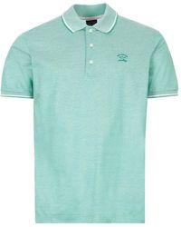 Paul & Shark Polo Shirt Twin Tipped - Green