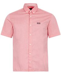 BOSS by Hugo Boss Athleisure Short Sleeve Shirt Biadia R - Red