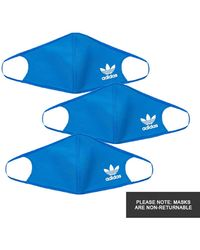 adidas Face Masks 3 Pack - Blue