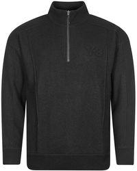Y-3 Y3 Half Zip Sweater - Black