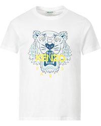 KENZO Tiger Motif Print T-shirt - White