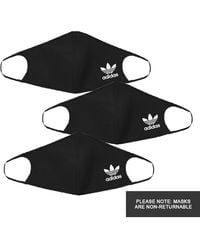adidas Face Masks 3 Pack - Black
