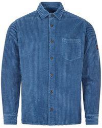 Paul & Shark Corduroy Shirt - Blue