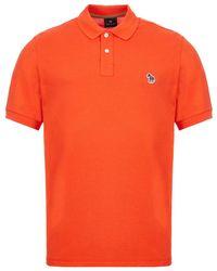 Paul Smith Zebra Short Sleeve Polo Shirt - Orange