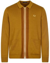 Fred Perry Cardigan Zip-through - Brown