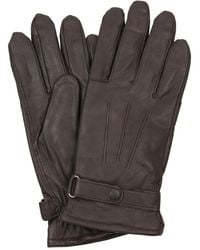 Barbour Gloves Burnished Leather Thinsulate - Brown