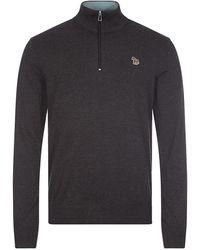 Paul Smith Zip Neck Sweater - Gray