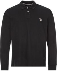 Paul Smith Long Sleeve Zebra Polo - Black