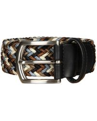 Andersons Woven Belt - Navy/brown - Blue