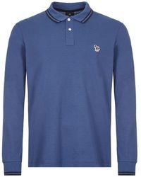 Paul Smith Long Sleeve Polo Shirt - Blue