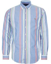 Ralph Lauren Classic Fit Striped Shirt - Blue