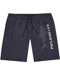 Paul & Shark Swim Shorts Reflective Logo - Blue