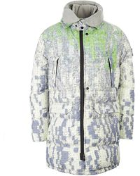 Stone Island Shadow Project Funnel Hood Parka Dpm Chiné – Pistachio Green