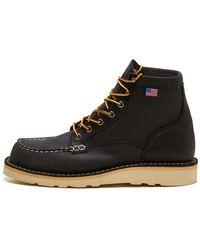 Danner Bull Run Moc Toe 6'' Eh Work Boots - Black